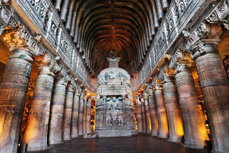 Les grottes d'Ajanta, Inde