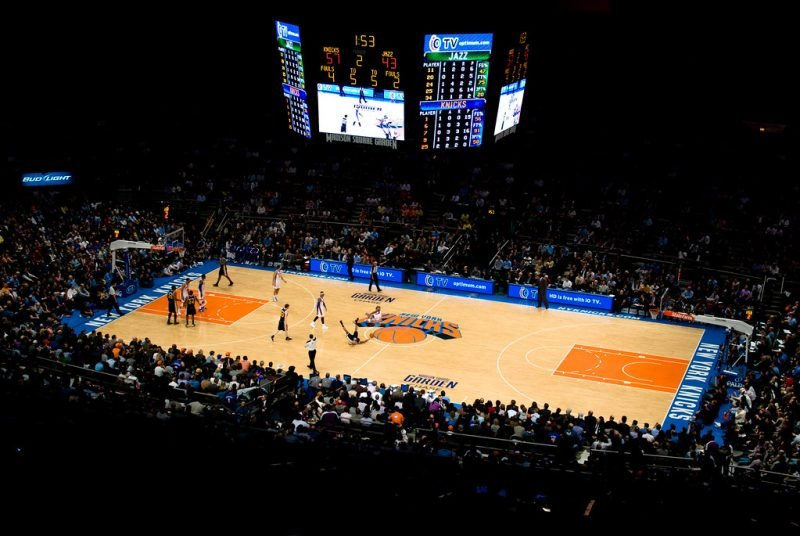 Aller au Madison Square Garden pour voir un match des New York Knicks
