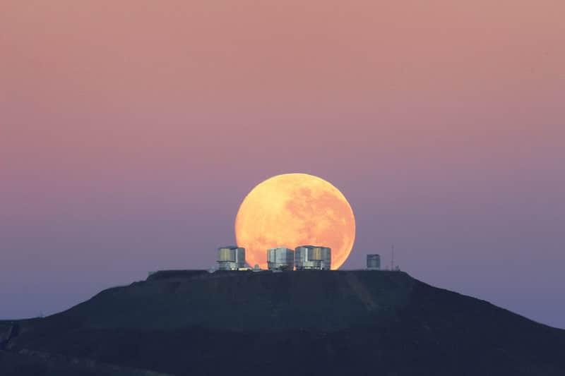 Cerro Paranal, observation des étoiles, Chili