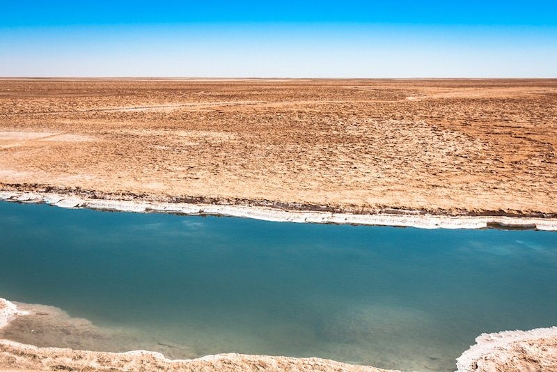 Chott El-Djérid en Tunisie