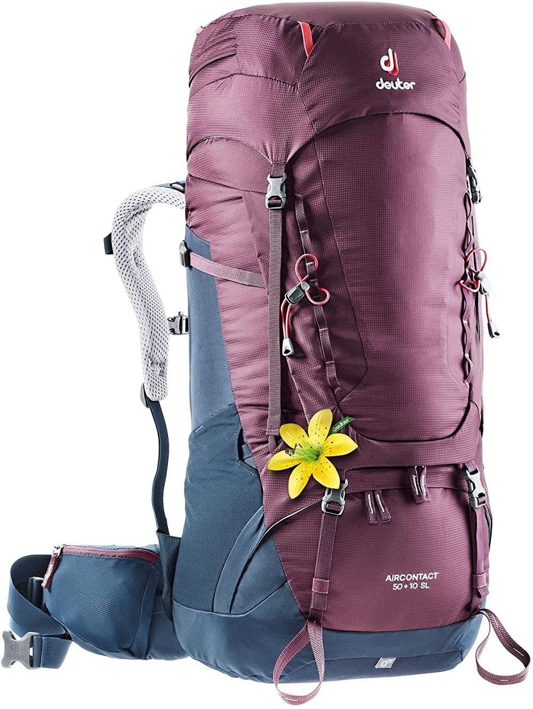 Deuter Aircontact 50+10, sac à dos voyage pour femme