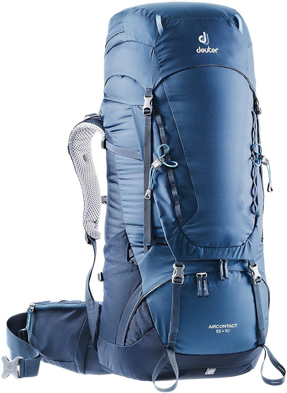 Deuter Aircontact 55 +10, sac à dos voyage pour homme