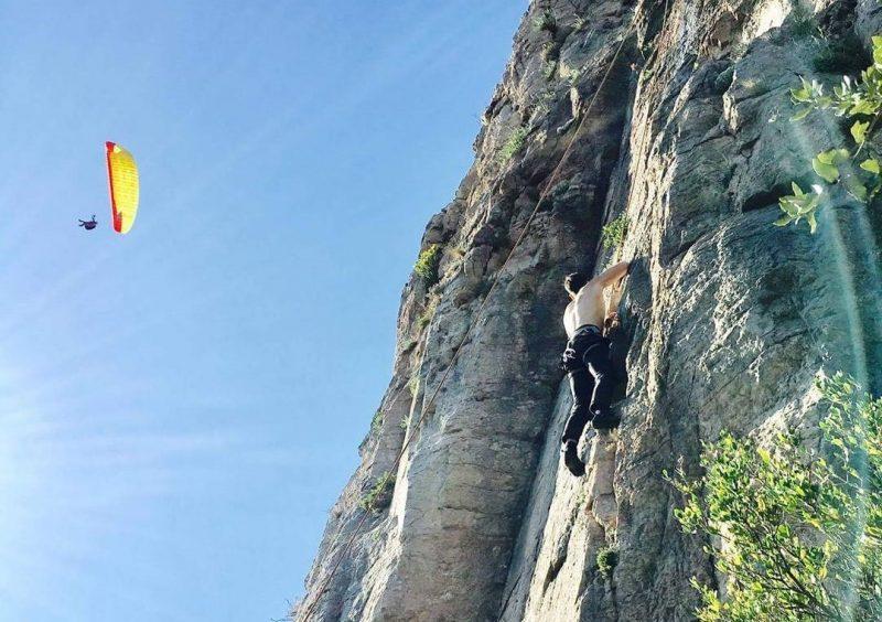 Escalade et parapente au Pic de Vissou