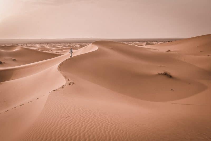 Merzouga, désert du Sahara, Safari
