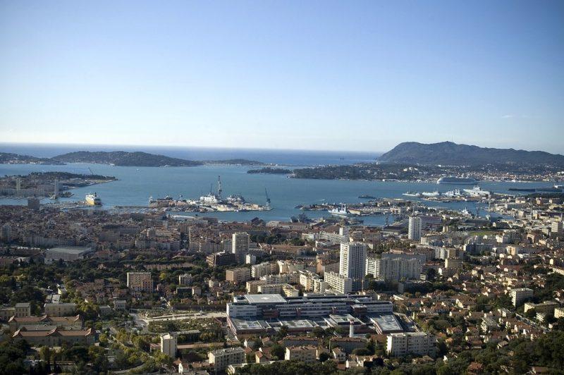 Vue depuis le Mont Faron, Toulon