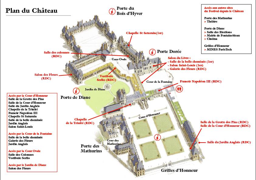 Plan du château de Fontainebleau