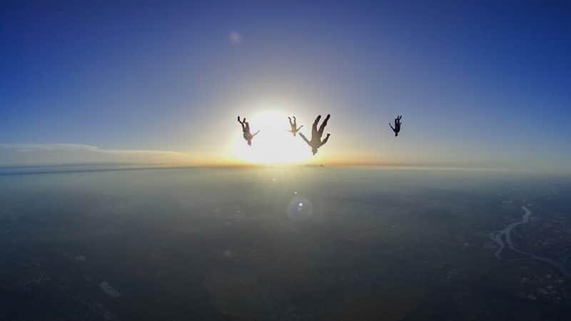 Parachute dans la zone de Pujaut