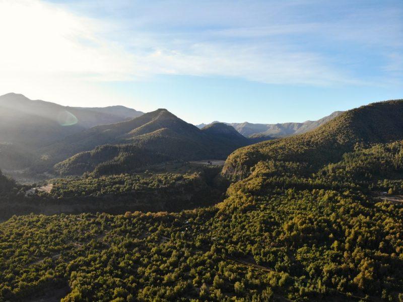 Parc national Radal Siete Tazas, Chili