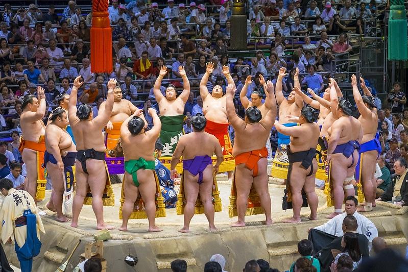 Combat de sumo à Nagoya
