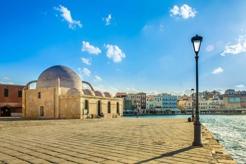 Mosquée des Janissaires, port vénitien, La Canée, Crète