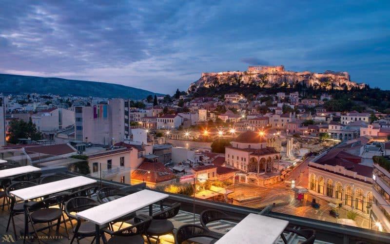 A for Athens, bar à cocktail, rooftop, Athènes