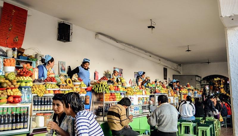 Marché central de Sucre, Bolivie