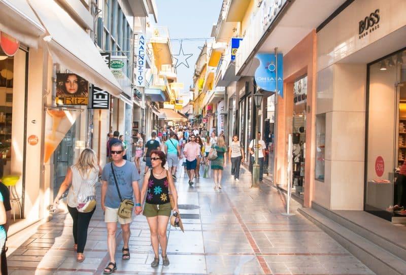 Rue Dedalou, Héraklion, Crète