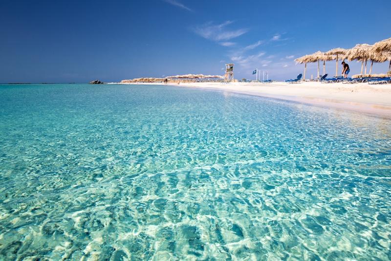 Elafonissi Beach, Crète