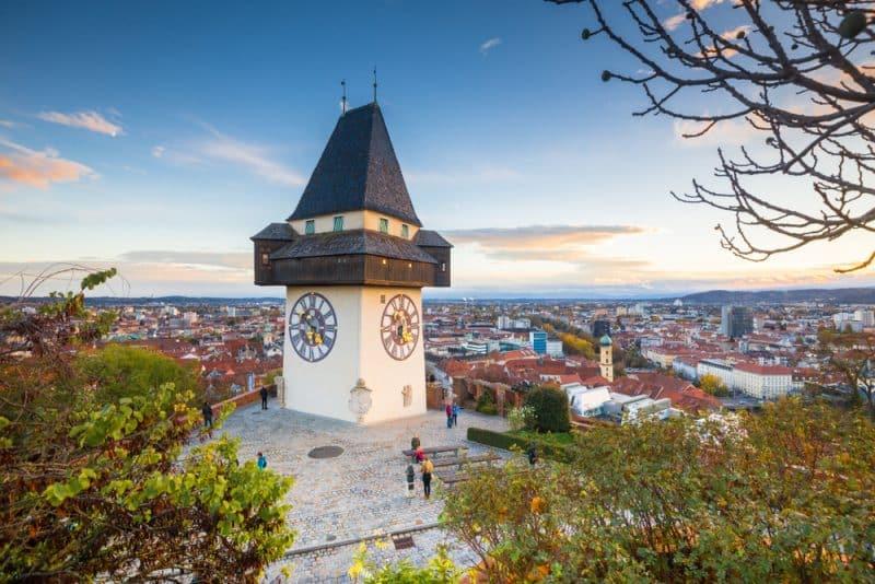 Graz, panorama, Autriche