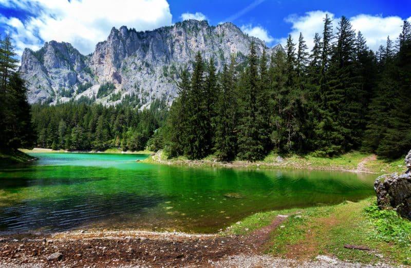 Grüner See, lac vert, Autriche