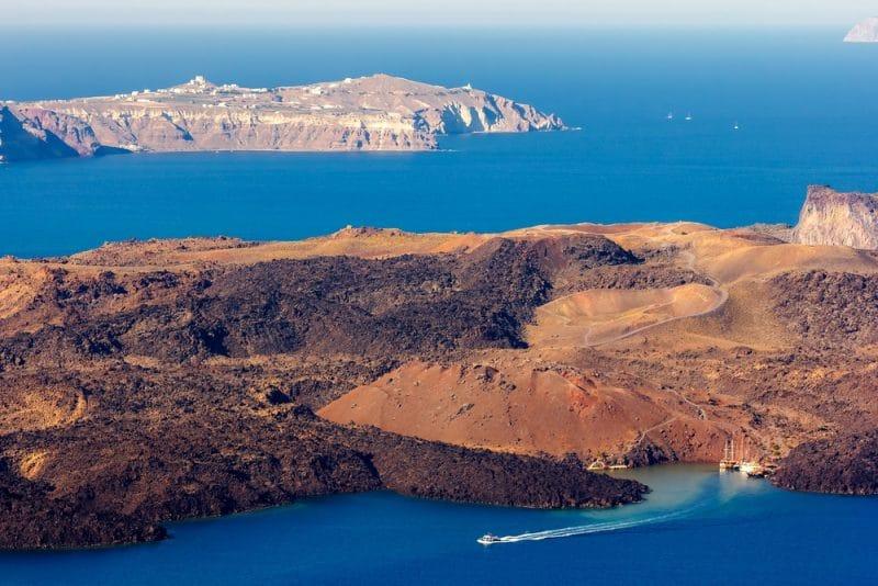 Histoire du cratère Nea Kameni, Santorin
