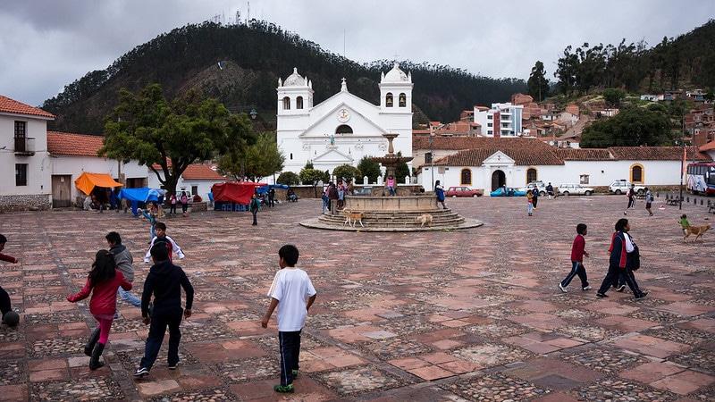 Place de la Recoleta, monastère, Sucre, Bolivie