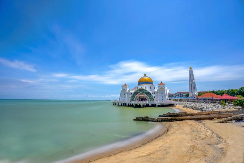 Mosquée Masjid Selat, Malacca, Malaisie