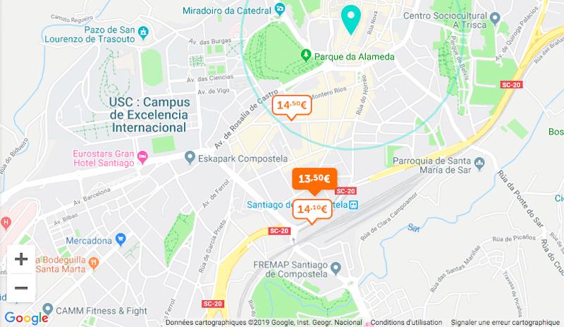 Parclick, Santiago de Compostela