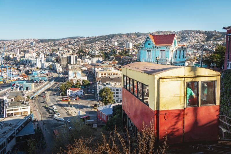 Funiculaire, Valparaiso, Chili