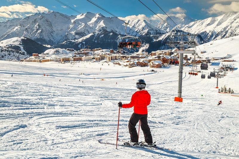 Alpe d'Huez, station de ski, France