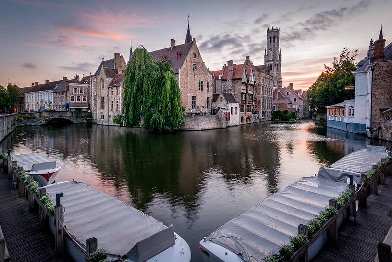 Coucher de soleil, Bruges