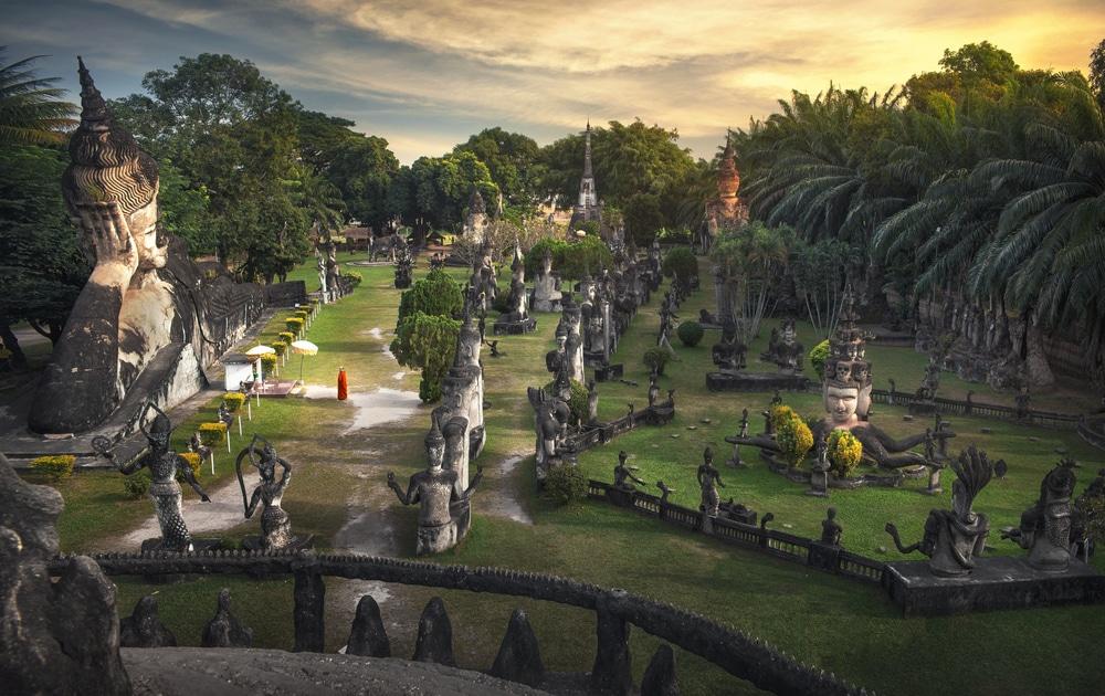 Bouddha Park, Laos