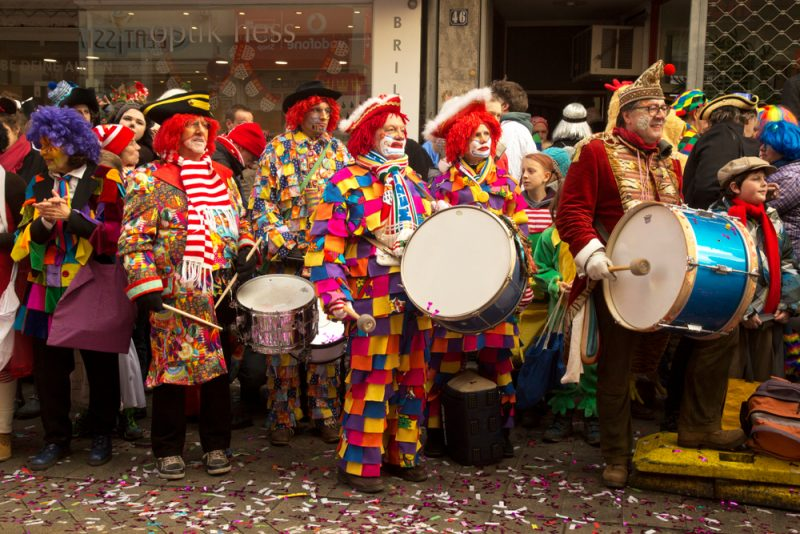 Clowns au carnaval de Cologne