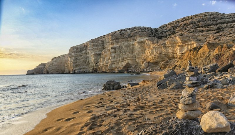 Red Beach, Crète