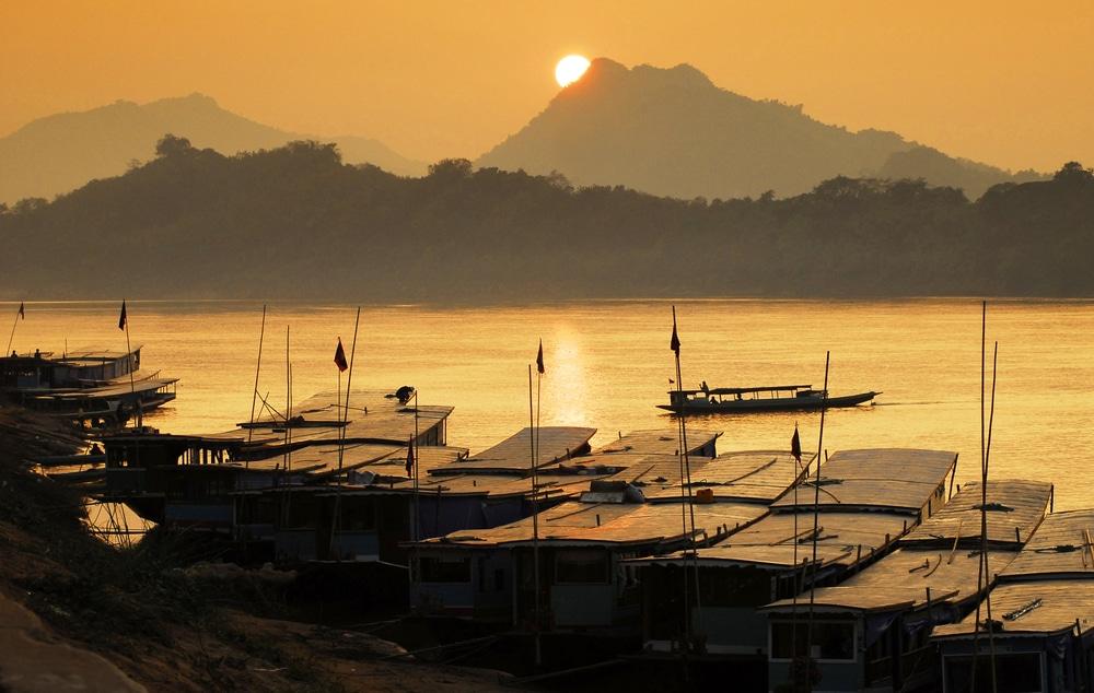 Balade en bateau sur le Mékong, Laos