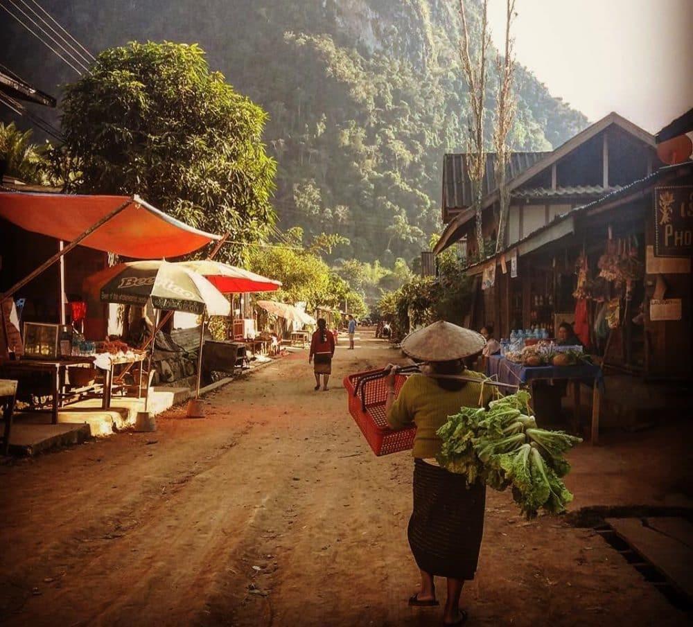 Village de Muang Ngoi Neua, Laos
