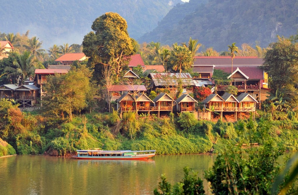 Nong Khiaw village, Laos