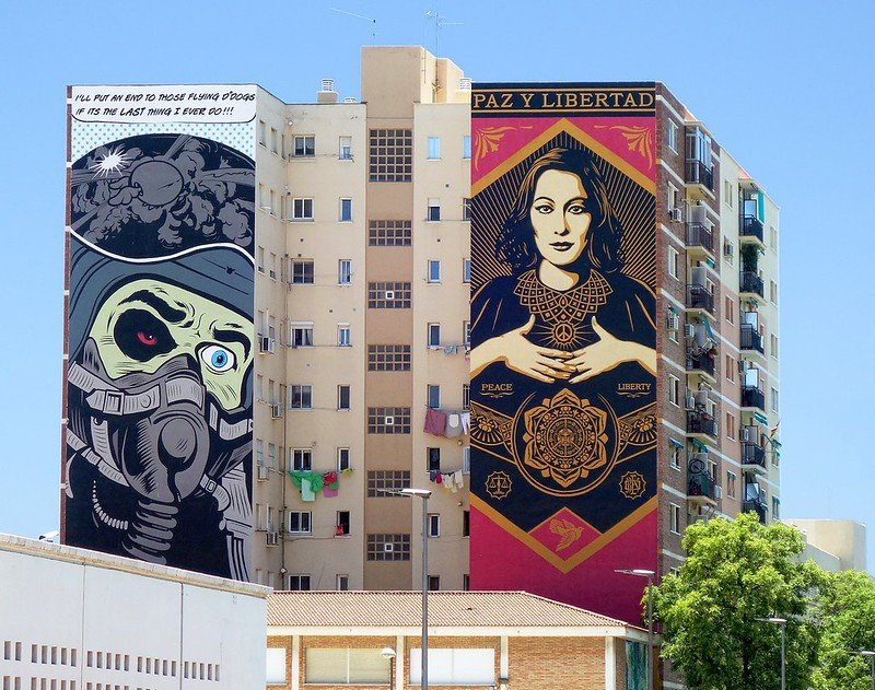 Quartier Soho, street art, Malaga
