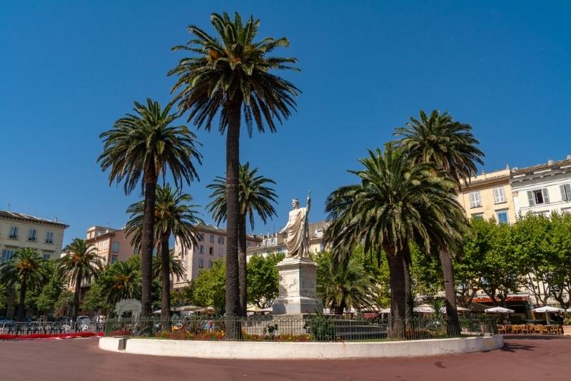 Bastia Place saint Nicolas Statue Napoléon