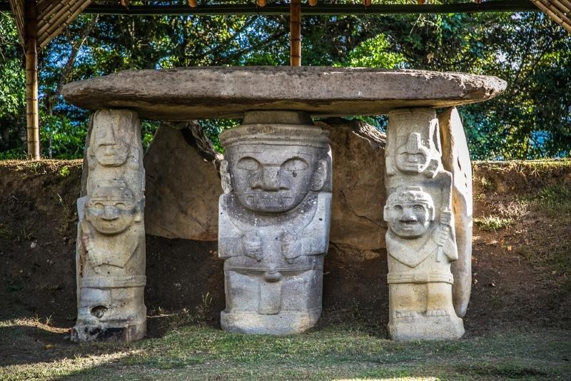 Colombie statues UNESCO San Augustin