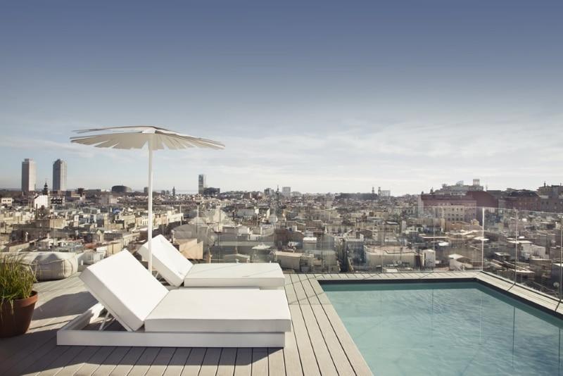 Meilleur Rooftop Barcelone - Yurbban Trafalgar Hotel