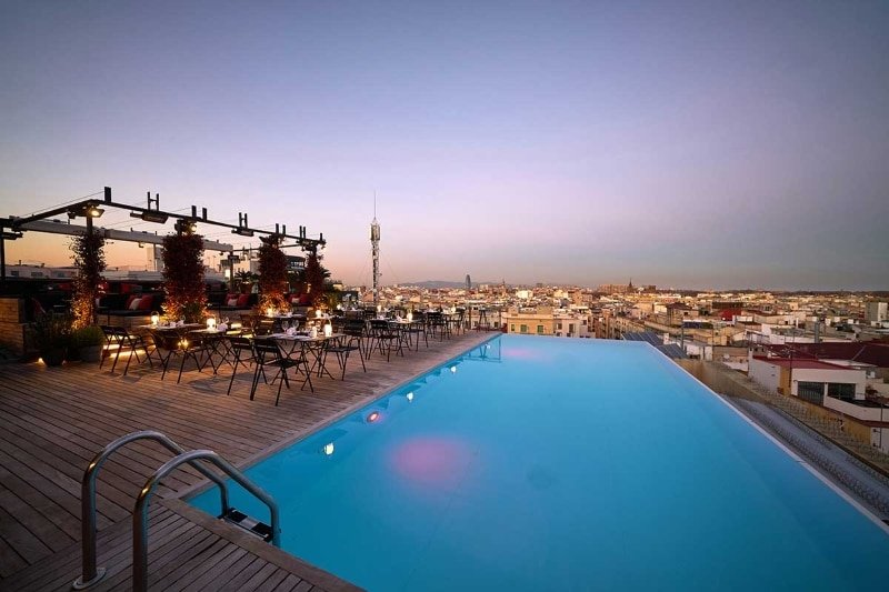 Meilleur rooftop Barcelone - Skybar Grand Central