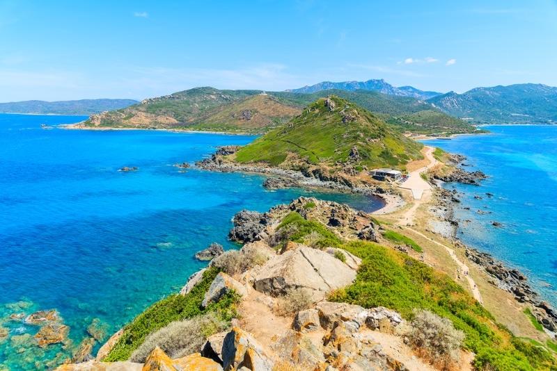 Bastia sentier des douaniers vers le Cap Corse