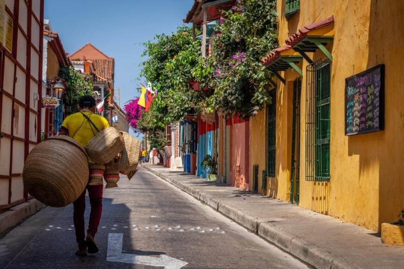 colombie cartagene rue coloree