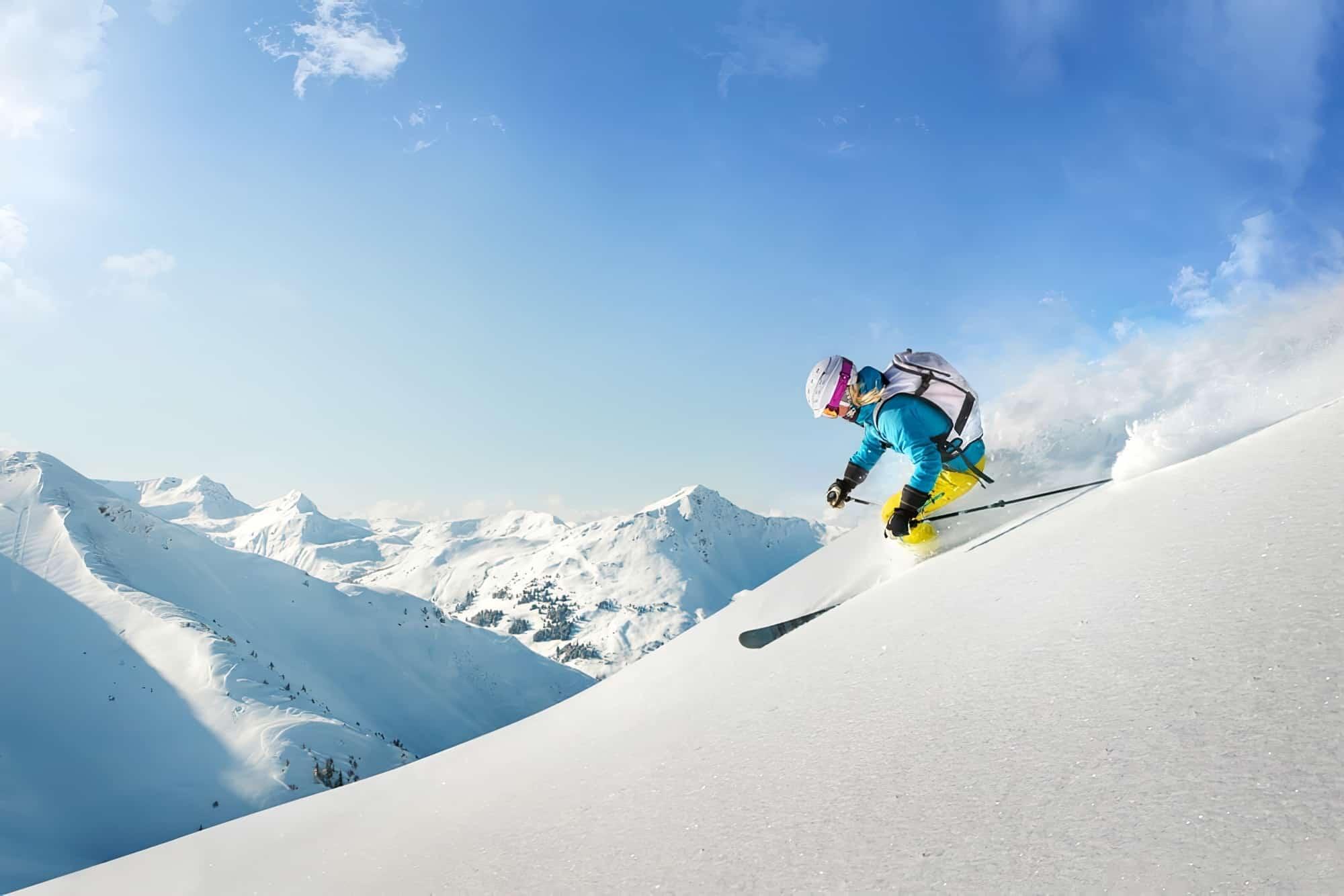 femme ski hors piste pyrénées