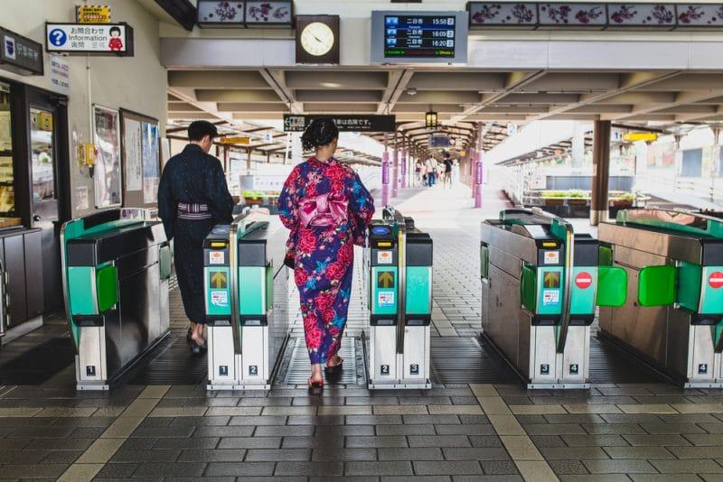 Fukuoka en kimono