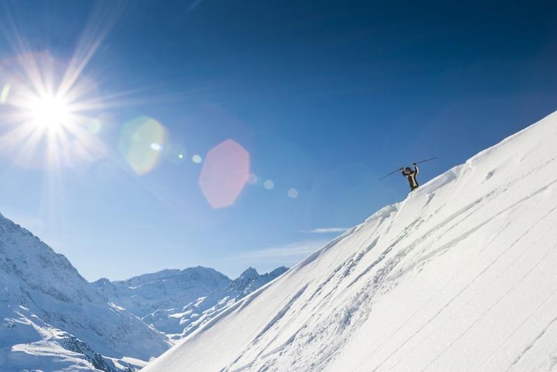 Glacier de Stubai ski hors piste