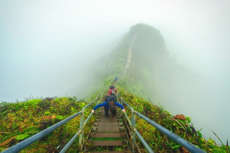Haiku Stairs a Hawaii sur l'ile d'Honolulu