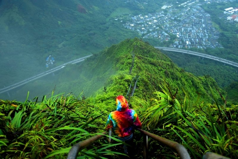 Haiku Stairs paysage incroyable jungle hawai