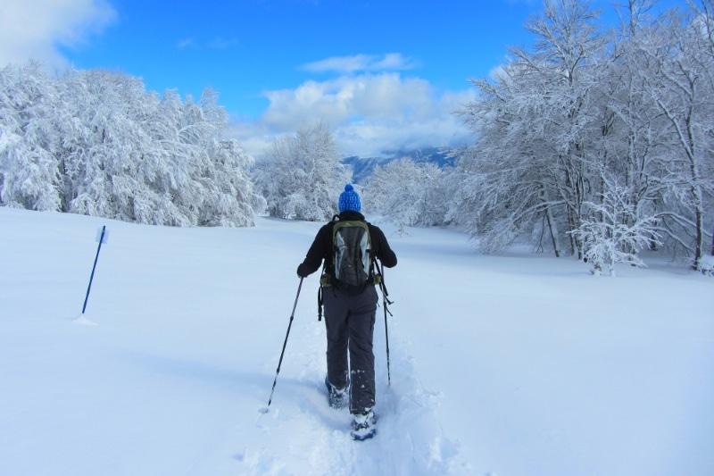 Jura en France sous la neige raquettes
