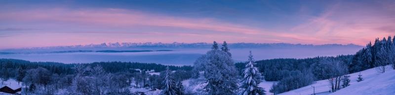 Jura Les Rousses vue Alpes