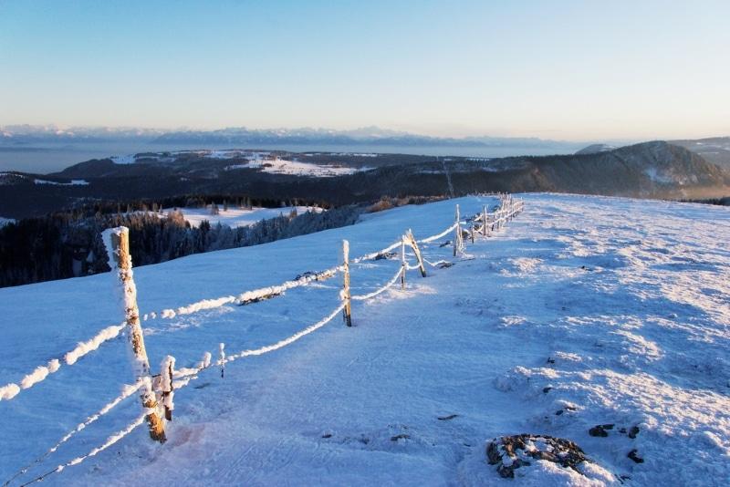 meilleur spot de randonnée en France : Le Jura Mont d'Or neige
