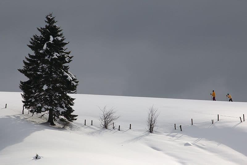 Jura village Longchaumois sous la neige
