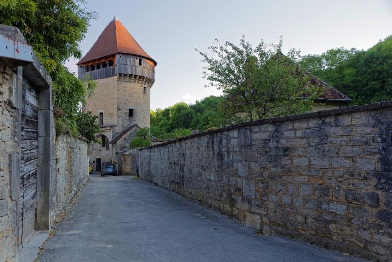Jura village Poligny